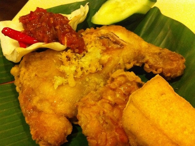 Ayam Penyet - one of my favorite Indonesian foods
