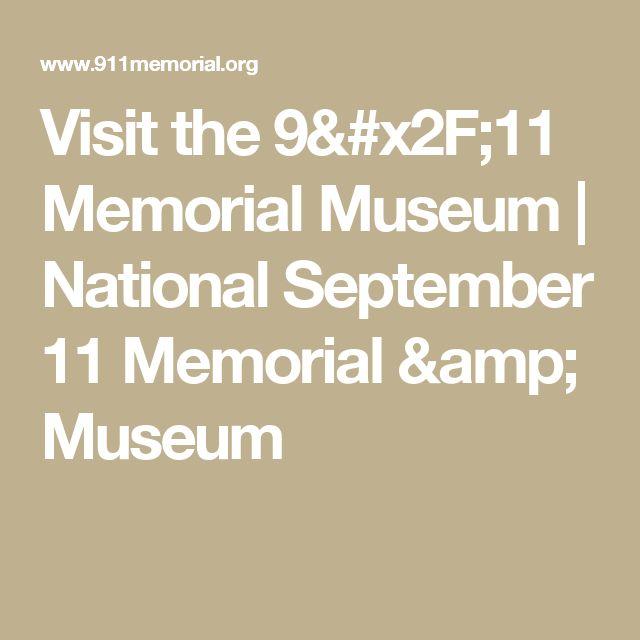Visit the 9/11 Memorial Museum | National September 11 Memorial & Museum