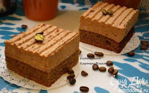 Шоколадно-муссовое пирожное | Кулинарные рецепты от «Едим дома!»