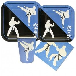 Karate Party Supplies, Karate Mini Party Packs, Tableware
