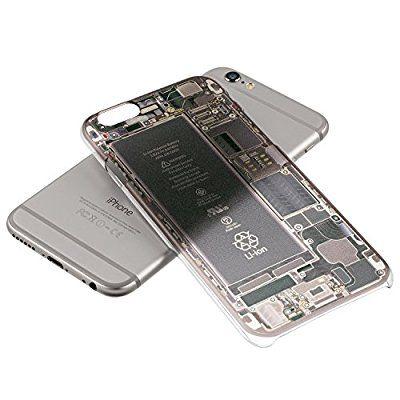 i style amazon限定 iPhone 6 4.7インチ Skeleton inside case 基板 が 透けている ように 見える アイフォン ケース クリア ハード ケース