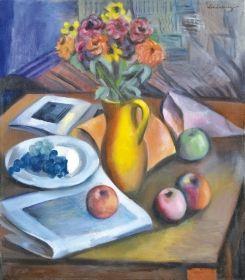 Schönberger Armand - Asztali csendélet almákkal
