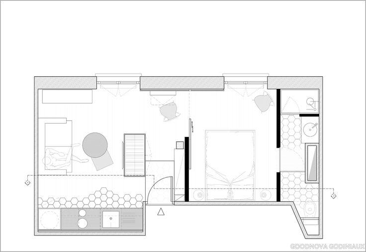 Un studio de 28m² transformé en deux pièces pour 40 000 euros, goodnova godiniaux - Côté Maison