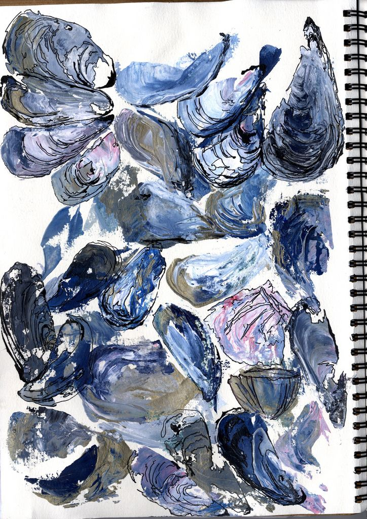 Mussel Shells Painting | Painting with a Palette Knife - Mus… | Flickr