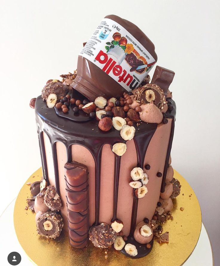 15 best Cake images on Pinterest Birthday cakes Nutella cake