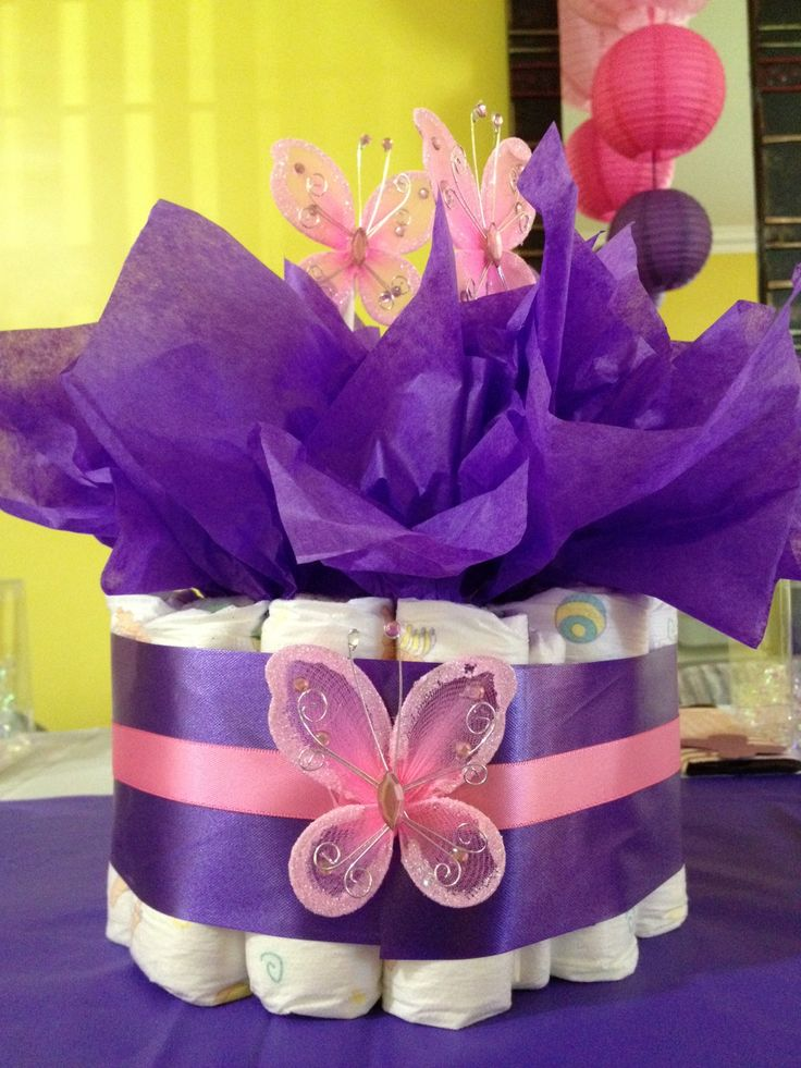 Superior Pink U0026 Purple Butterfly Themed Baby Shower