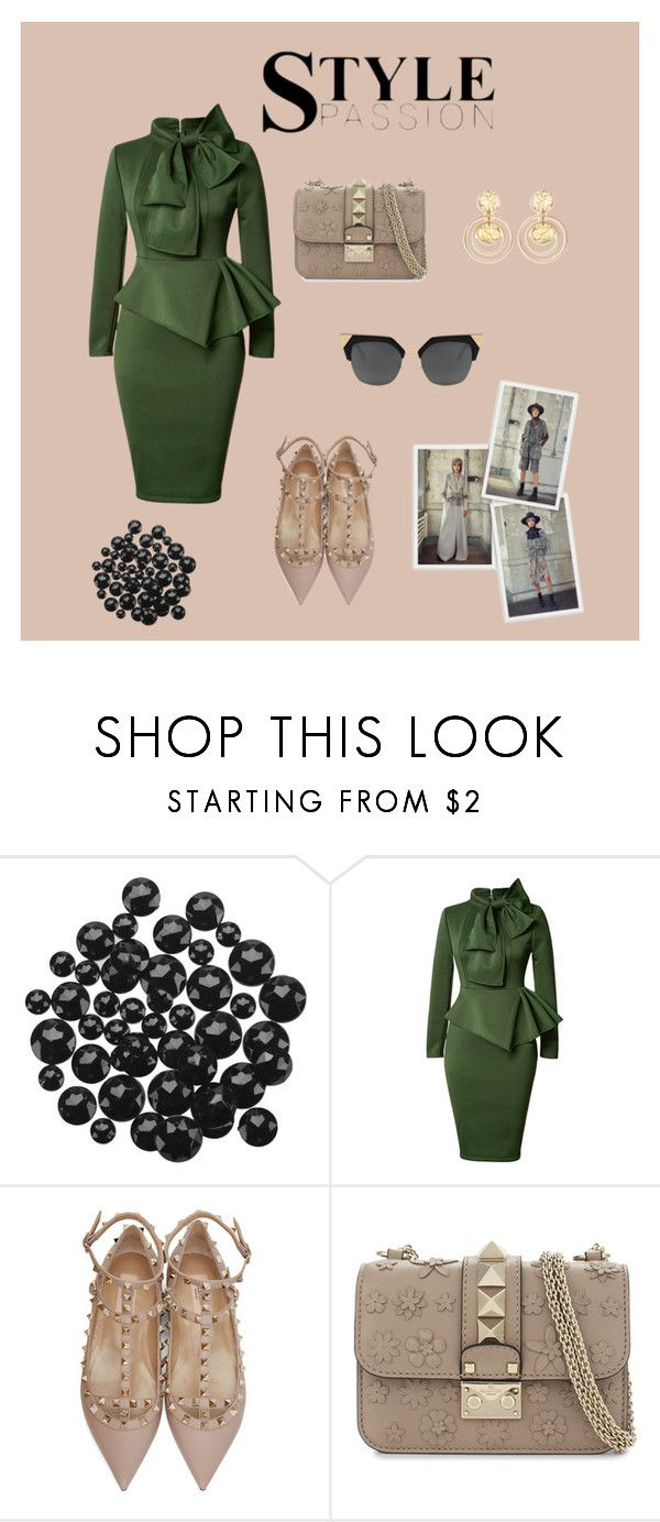 """Untitled #31"" by nerdygets on Polyvore featuring Valentino and Kenneth Jay Lane"