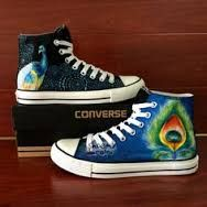 Image result for peacock decorated sneakers