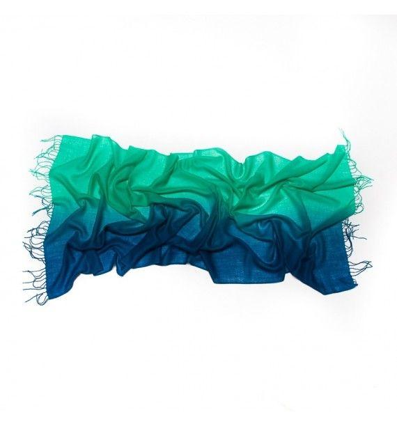Esarfa deosebita in doua culori, din lana si cashmir, Tie-Me-Up