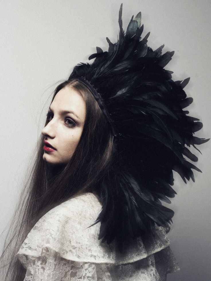 ⍙ Pour la Tête ⍙ hats, couture headpieces and head art - great festival,goth whitby or ball couture hair ,head accessory ethnic,boho raven,goddess,fairytale style fashion