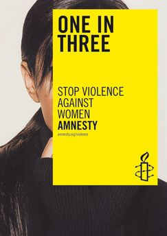 One in Three. Stop violence against women.