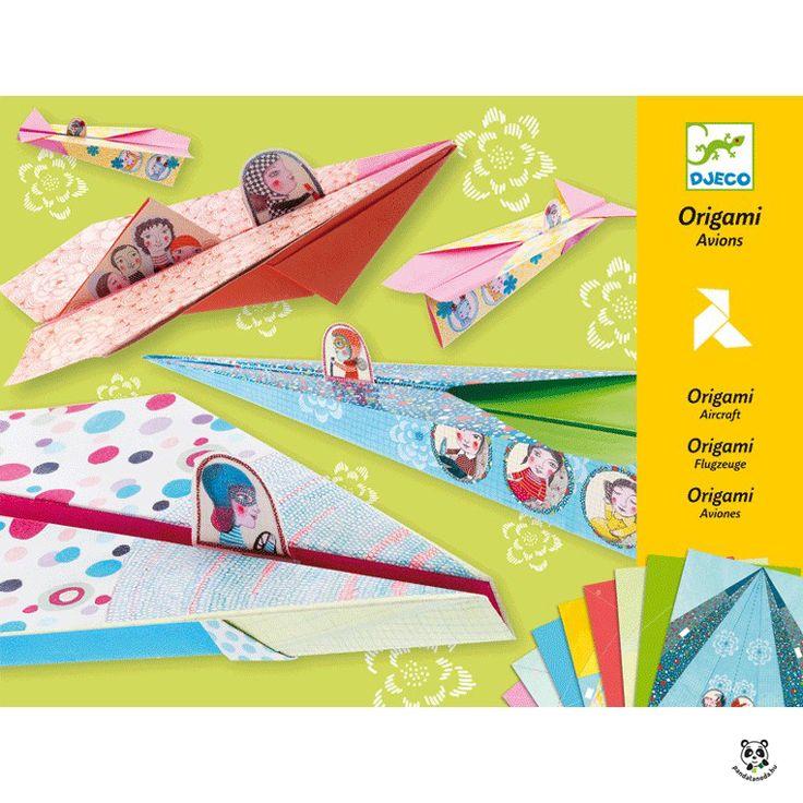 Origami lányos repülők- kreatív papírhajtogatós készlet (Djeco) | Pandatanoda.hu Játék webáruház