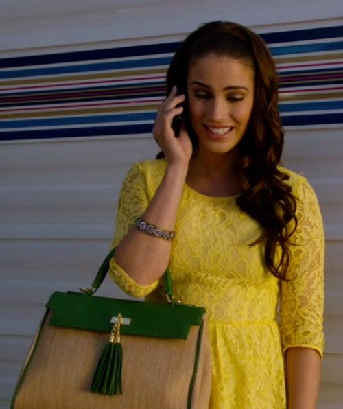 adrianna 90210 - yellow lace dress <3