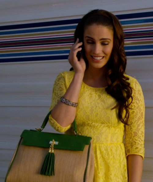adrianna 90210 - yellow lace dress <3