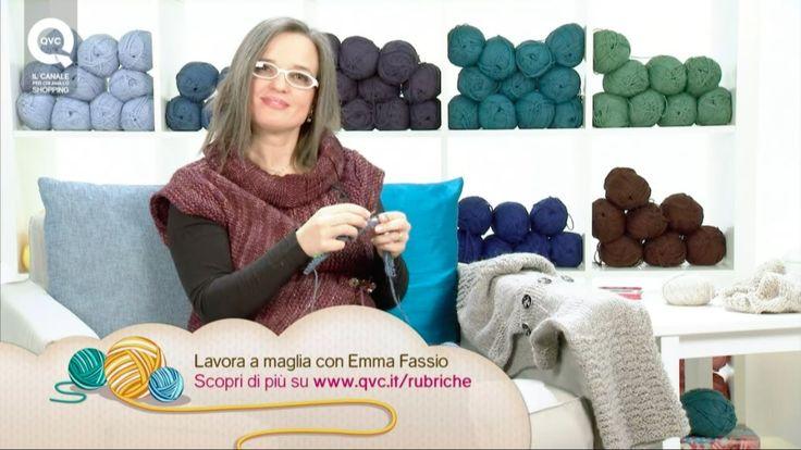 Creare una maglia top-down. Presenta Emma Fassio dritto-davanti-dietro per aumenti