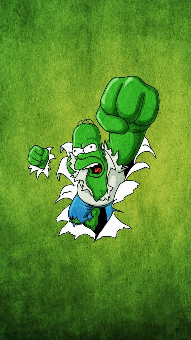 Funny Homer Simpsons Hulk HD Wallpapers for iPhone is a