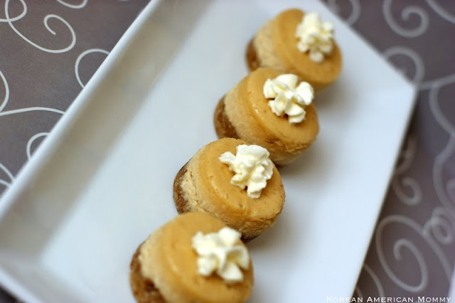 Shortbread Cookie Crusted Peanut Butter Mini Cheesecakes ...