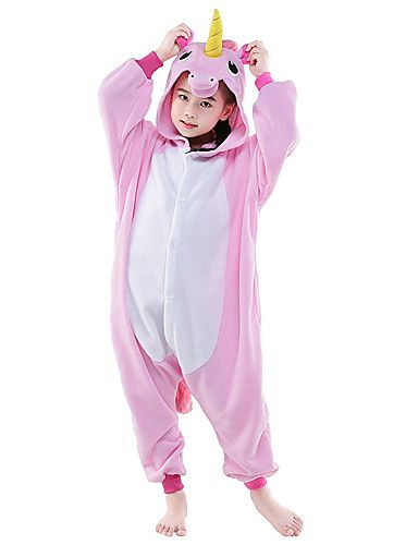 28920429fe Pijamas Kigurumi Caballo volador Unicorn Pijamas de una pieza Disfraz Lana  Polar Blanco + azul Blanco