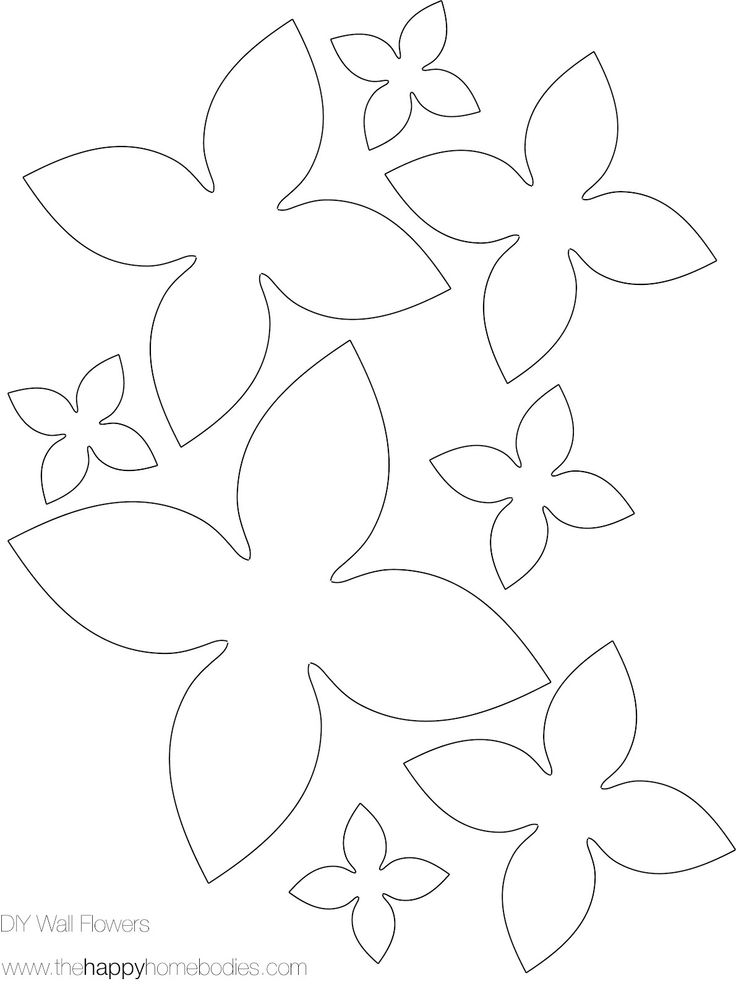 This is a photo of Adorable Free Printable Paper Flower Template