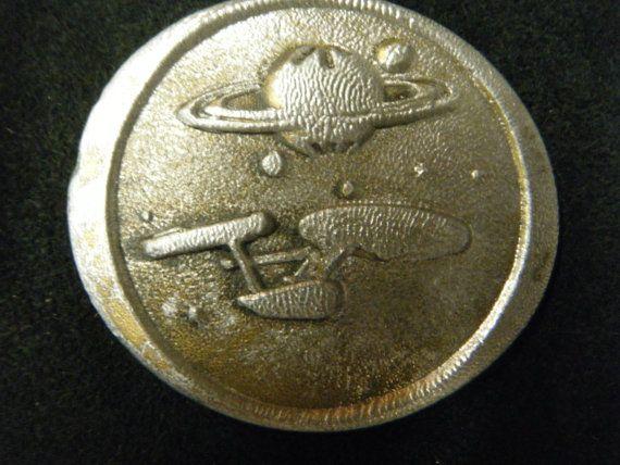 Vintage Star Trek  NCC 1701 Belt Buckle. $36.00, via Etsy.