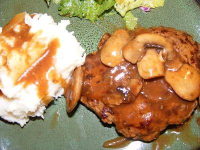 Salisbury Steak with Mushroom & Wine Gravy