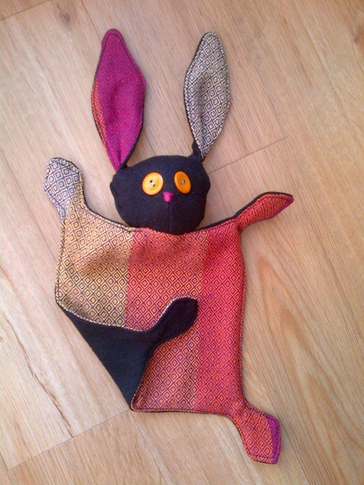 Girasol wrap scrap cuddling bunny