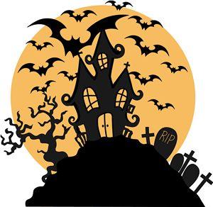 Silhouette Online Store - View Design #12762: halloween scene