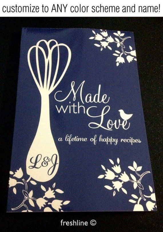 personalized recipe book for mom for dad newlywed gift idea wedding gift