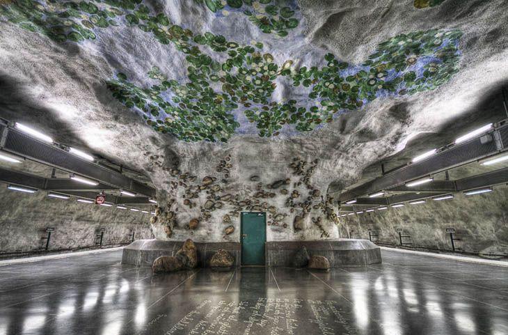 Stockholm, the Water Lily Station - Näckrosen