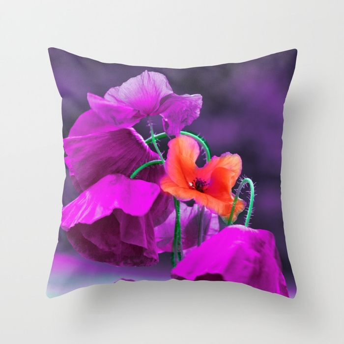 Buy Vintage poppies (7) Throw Pillow by maryberg. Worldwide shipping available at Society6.com. Just one of millions of high quality products available.