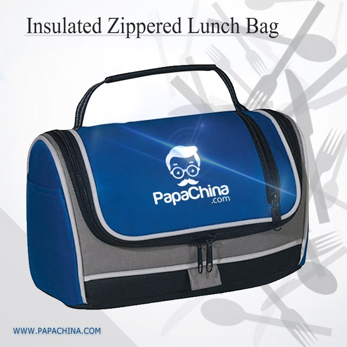 A dynamic product named Insulated Zippered Lunch Bag which right away provides your customers with effective results with some of its splendid features like large front zippered pocket, padded web carry handle, 2 side pockets, zipper closure, thereby promoting your brand through the product which can be used as carrying things with wide range of facilities.