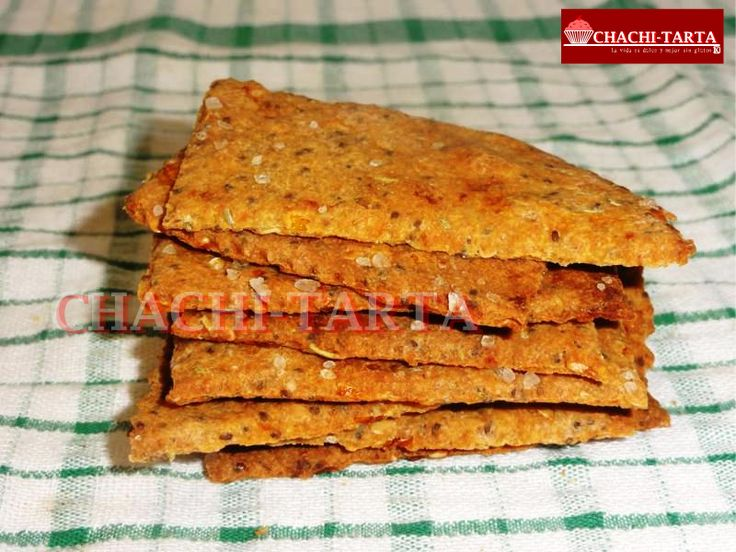 Crackers de tomate con trigo sarraceno (sin gluten - sin lactosa - sin huevo)