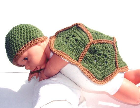 Check out this item in my Etsy shop https://www.etsy.com/listing/189533725/turtle-critter-cape-newborn-baby-girl