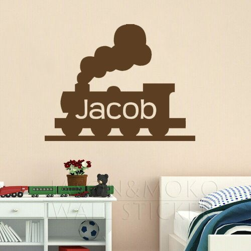 >> Click to Buy << Customized Any Name Playroom Wallpaper Train Choo Vinyl Home Decor Wall Sticker Decal Art for Baby Nursery Kids Room 30*40CM  #Affiliate