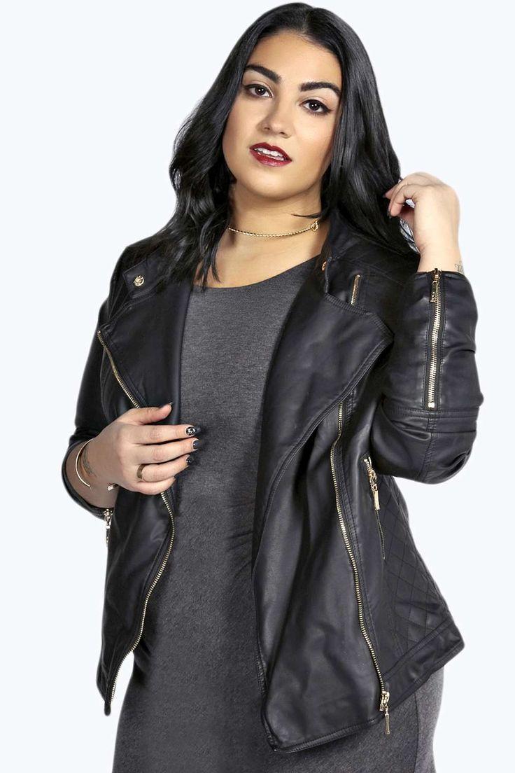 Leather jacket plus