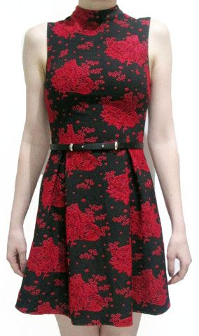 Floral High Neck Dress See the full collection at www.colorsonair.com