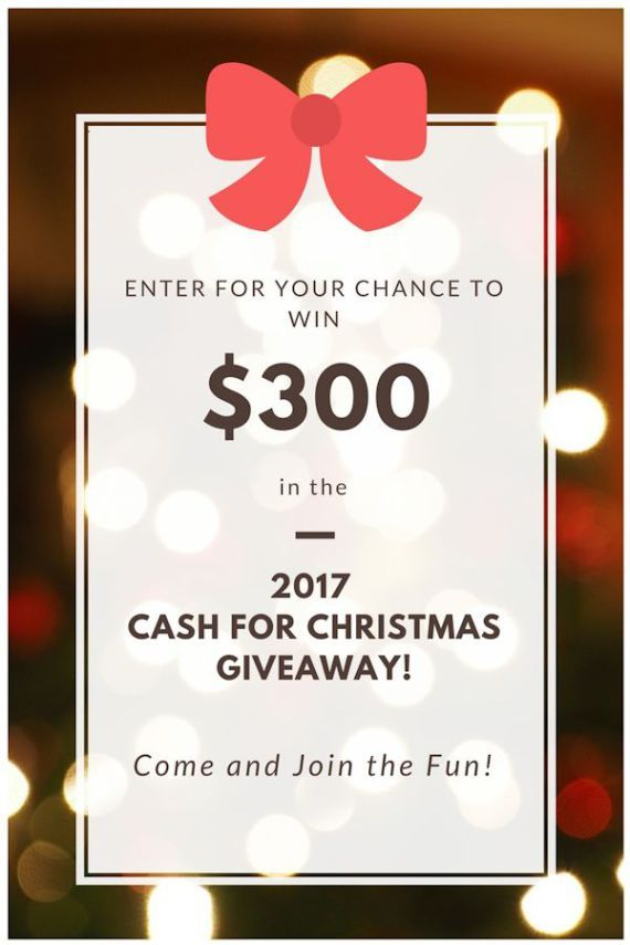 Enter for your chance to win one of 6 prizes in the CASH FOR CHRISTMAS GIVEAWAY! $300 in gift cards from Amazon, Target, Walmart, and Kohls.  #entertowin #giveaway