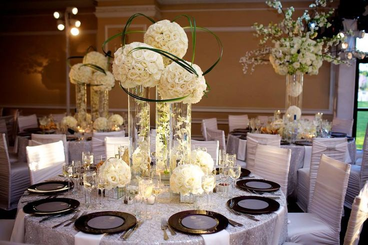 124 best multi level centrepiece designs images on for Wedding reception centrepieces