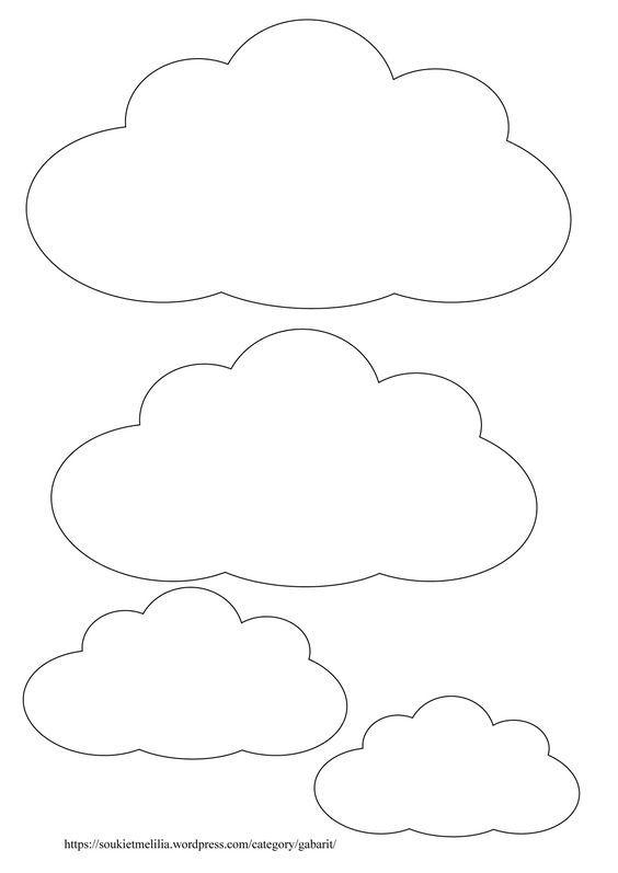 Télécharger au format des gabarits nuages au format A4 et en PDF Gabarit nuage:
