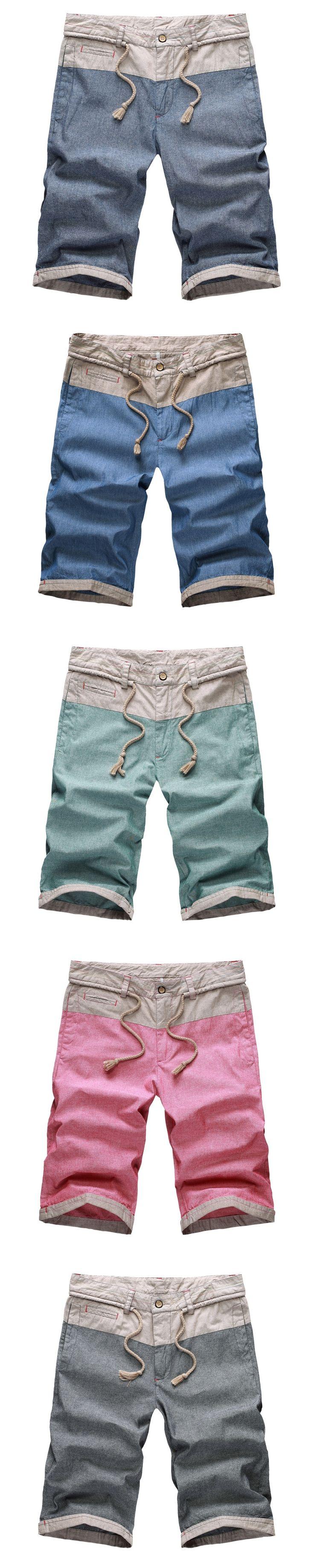 2017 New Fashion Summer Casual short Patchwork Mens Shorts Pantalones Cortos Hombre Denim Men  Cargo Shorts 13M0611