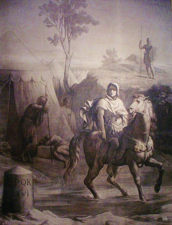 Caesar crossing the Rubicon. 1848-52. Paul Chenavard. French.1807-1895