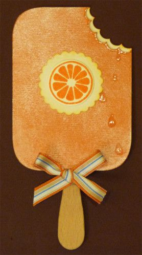 Carte Popsicle orange