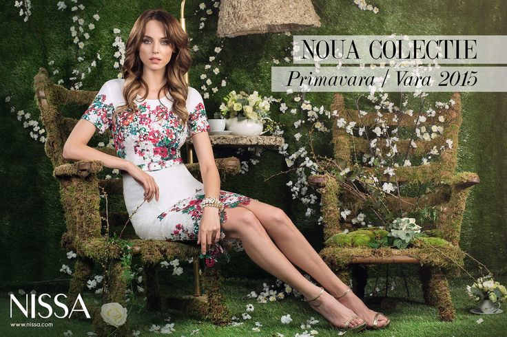 NISSA New Collection SS2015  www.nissa.com  #nissa #new #collection #ss2015 #campagne #pictorial #pv2015 #dress #embroidery #white #green #spring #summer #romantic #inspiration #fashion #fashionista #style #look #floral