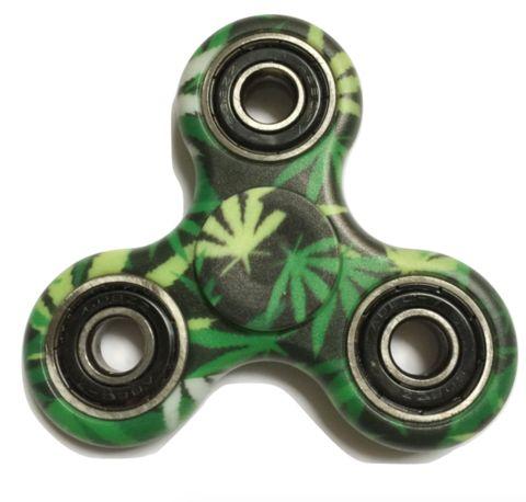 420 Leaf Fidget Spinner. Green Weed Leaves Hand Fidget Toy.