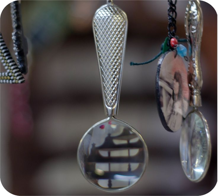 Necklace with magnifying glass - just one of the most unique stuffs @ Insitu, Budapest