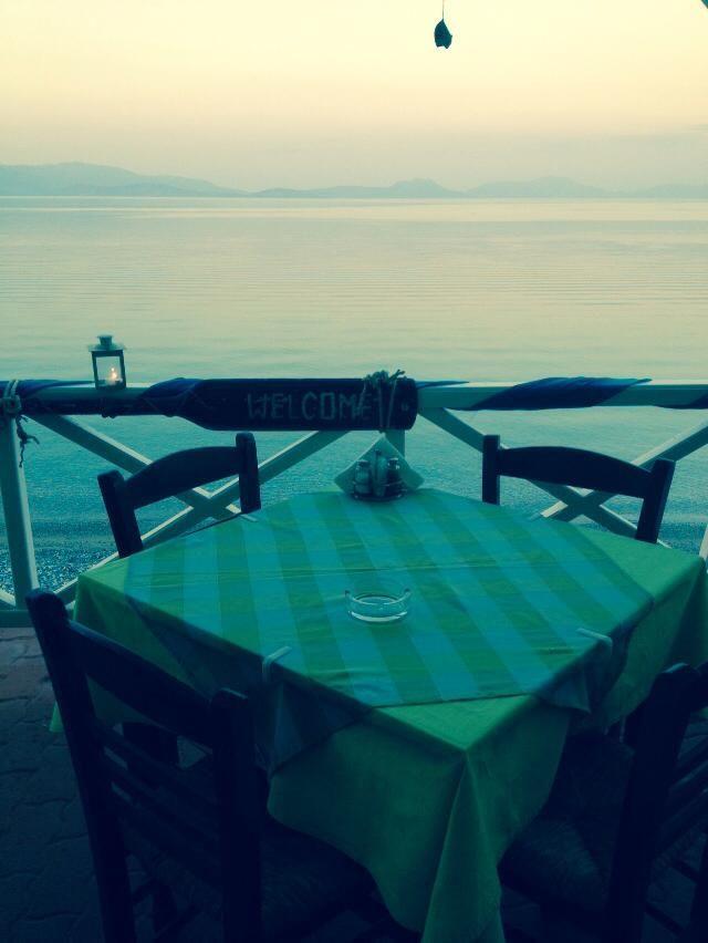 Sunrise at foinikes taverna