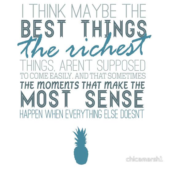 the simple things, the best things. shawn spencer juliet gus qote psych love romance blue pineapple geek nerd tv show