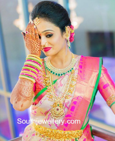 Bride Manasa Reddy in her Wedding Jewellery