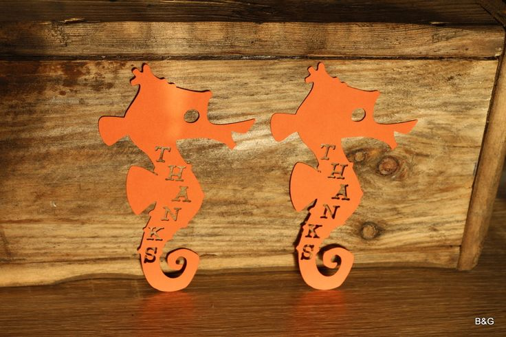 Dory and Nemo party,under sea party, 12-piece seahorse thank you tag, favour tag by EllyPartyShop on Etsy