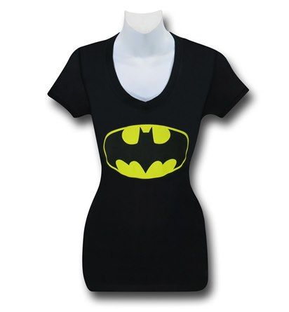 Batman Symbol Slim V-Neck Women's T-Shirt